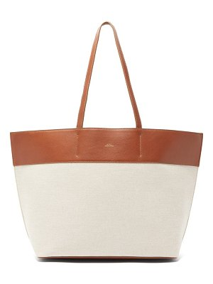 A.P.C. totally canvas and leather tote bag