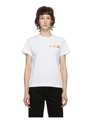 A.P.C. white carhartt wip edition fire t-shirt