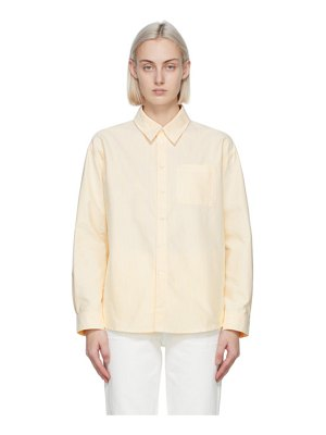 A.P.C. yellow and white striped boyfriend shirt