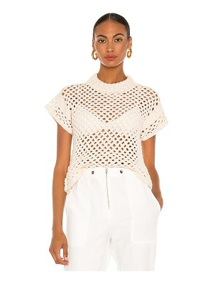 APIECE APART ami cropped net knit top