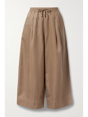 APIECE APART cecilia pleated linen and cotton-blend twill culottes
