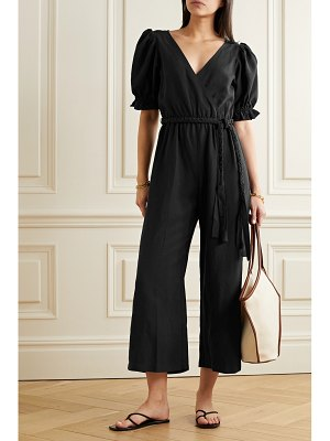 APIECE APART chabrol belted wrap-effect tencel and linen-blend jumpsuit