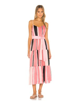 APIECE APART marjana spaghetti maxi dress
