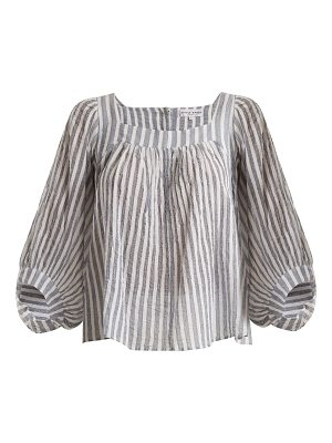 APIECE APART Orchard striped balloon-sleeve top