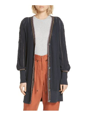 APIECE APART palma puff sleeve long cardigan