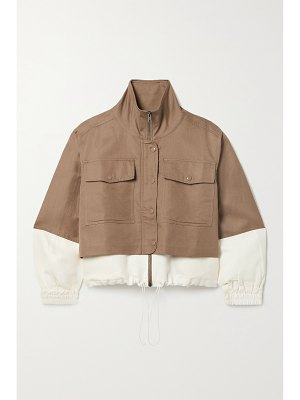 APIECE APART selva cropped two-tone linen and cotton-blend twill jacket