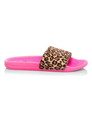 APL: Athletic Propulsion Labs iconic leopard-print calf hair slides