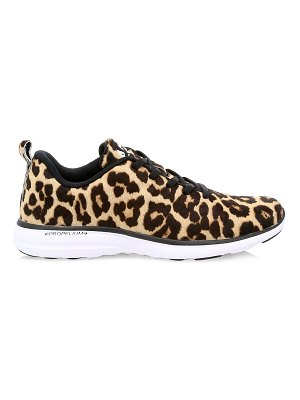 APL: Athletic Propulsion Labs iconic pro leopard-print calf hair sneakers