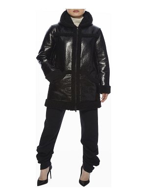 Apparis Ariana Faux Leather and Faux Shearling Coat