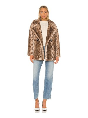 Apparis cecile faux fur coat