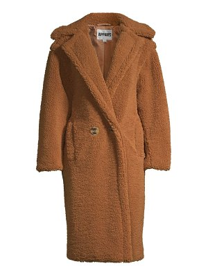 Apparis daryna double-breasted faux shearling coat