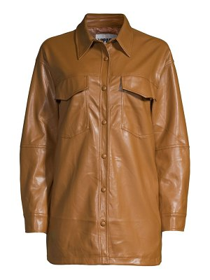 Apparis riley leather-look shirt