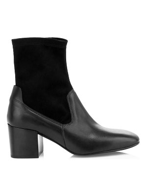 Aquatalia cammie stretch suede & leather ankle boots