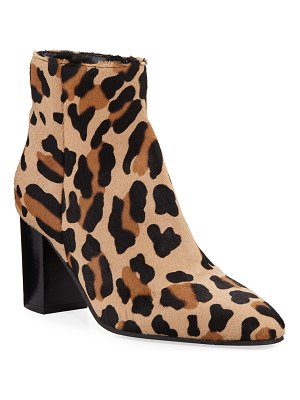 Aquatalia Florita Leopard-Print Calf Hair Booties