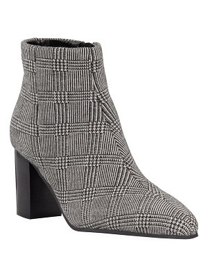 Aquatalia Florita Plaid Zip Booties