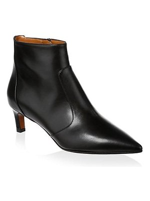 Aquatalia marilisa leather point-toe ankle boots