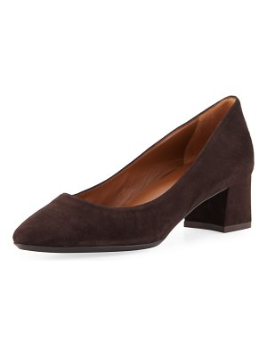 Aquatalia Pasha 40mm Suede Pumps