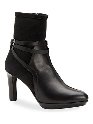 Aquatalia Ryann Leather and Suede Booties