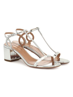 Aquazzura almost bare 50 leather sandals