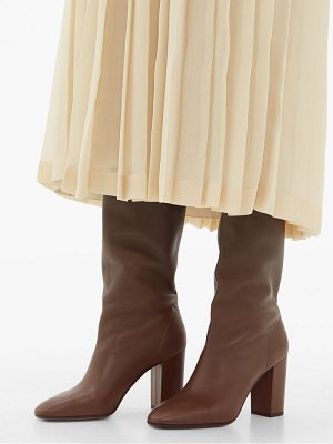 Aquazzura boogie 85 knee high leather boots