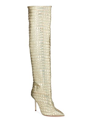 Aquazzura Boreal To-The-Knee Iridescent Boots