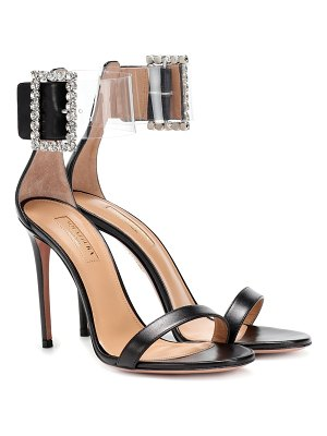 Aquazzura Casablanca 105 embellished sandals