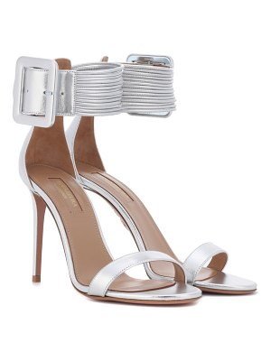 Aquazzura Casablanca 105 leather sandals