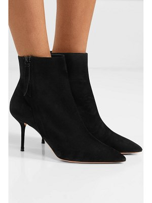 Aquazzura crush 75 suede ankle boots