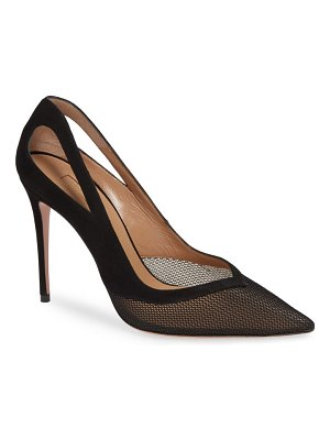 Aquazzura cutout mesh pump