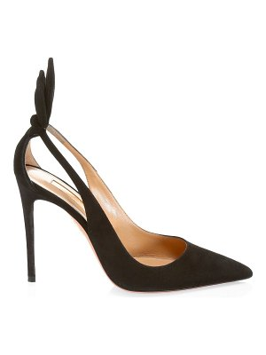 Aquazzura deneuve cutout suede pumps