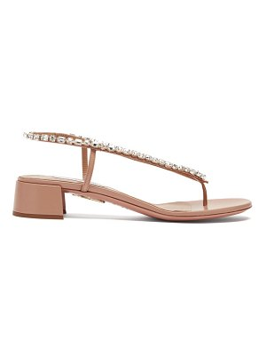 Aquazzura divina 30 crystal-embellished leather sandals