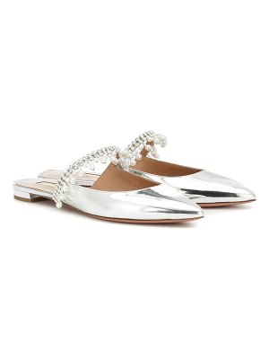 Aquazzura exquisite embellished leather mules