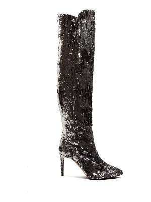 Aquazzura Gainsbourg 85 sequin boots