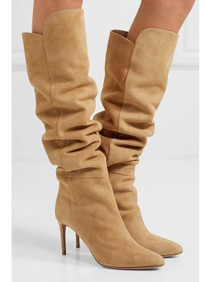 Aquazzura gainsbourg 85 suede knee boots