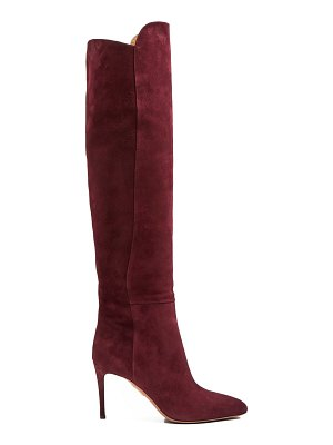 Aquazzura Gainsbourg 85 suede knee-high boots