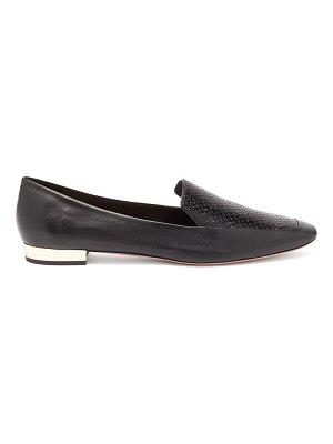 Aquazzura greenwich snake-embossed leather loafers