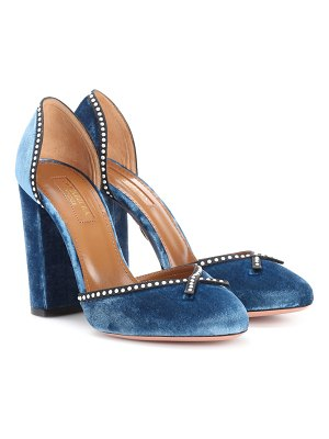 Aquazzura Lou Lou 105 velvet pumps