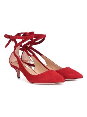 Aquazzura Milano 45 suede pumps