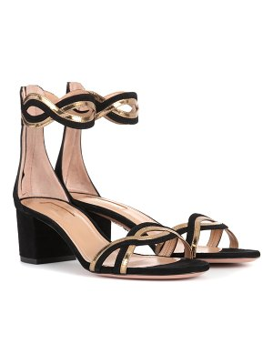 Aquazzura Moon Ray 50 suede sandals