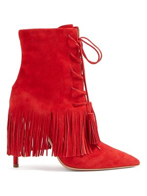 Aquazzura Mustang 105 Fringed Ankle Boots