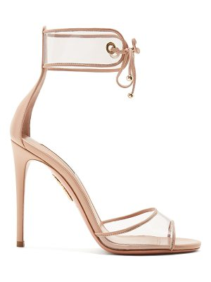 Aquazzura Optic 105 leather sandals