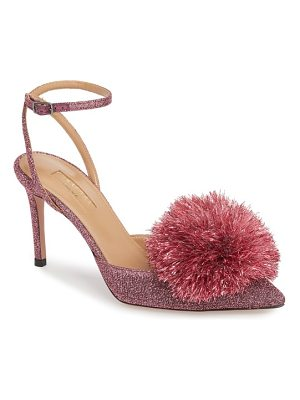 Aquazzura powder puff ankle strap pump