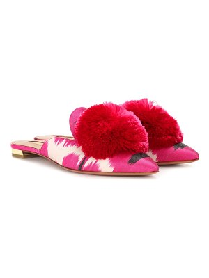 Aquazzura Powder Puff ikat slippers