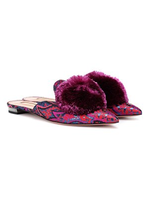 Aquazzura Powder Puff jacquard slippers