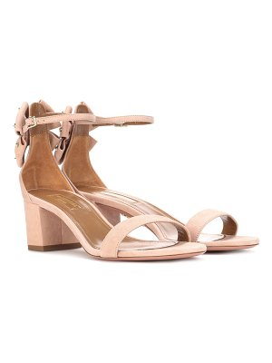 Aquazzura Siena 50 suede sandals