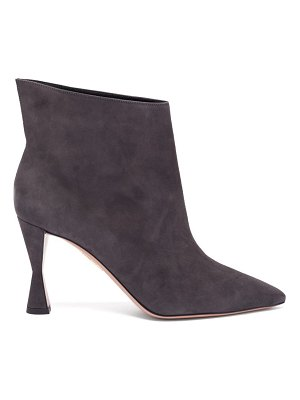 Aquazzura sky 85 suede ankle boots