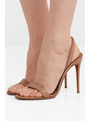 Aquazzura so nude 105 leather slingback sandals