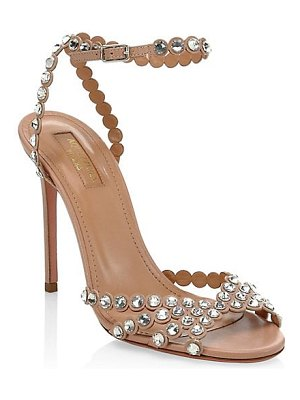 Aquazzura tequila crystal-embellished leather sandals