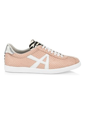 Aquazzura the a snakeskin-trimmed leather sneakers