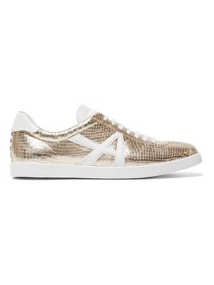 Aquazzura the a sneaker snake-effect leather trainers
